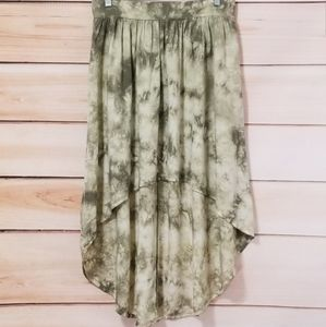Cotton On Flowy Viscose High Low Marbled Skirt M